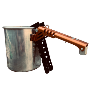 Handled Pot Gripper and Fuel Canister Recycle Tool Gripping Pot