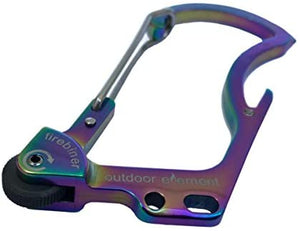 Firebiner Multicolor Survival Multitool Carabiner fire starter