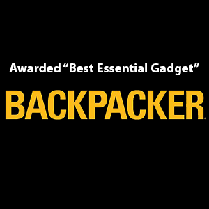 Best Essential Gadget award logo from Backpacker