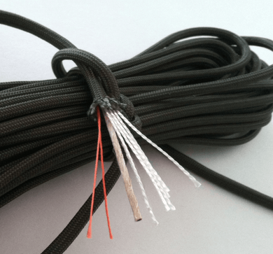 survival cord with fishing line and jute