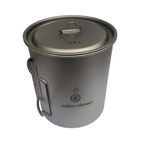 Titanium camping pot 750ml outdoor element OE