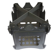 Load image into Gallery viewer, titanium windproof collapsible stove outdoor element OE wood burning