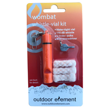 Load image into Gallery viewer, Wombat whistle vial accessory kit for firebiner orange