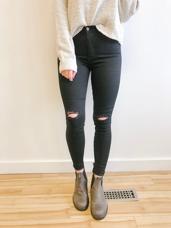 Super High Rise Black Jegging