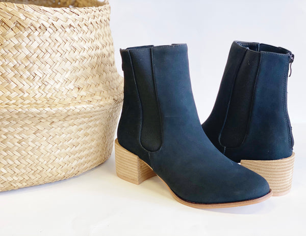 Rory High Ankle Block Bootie