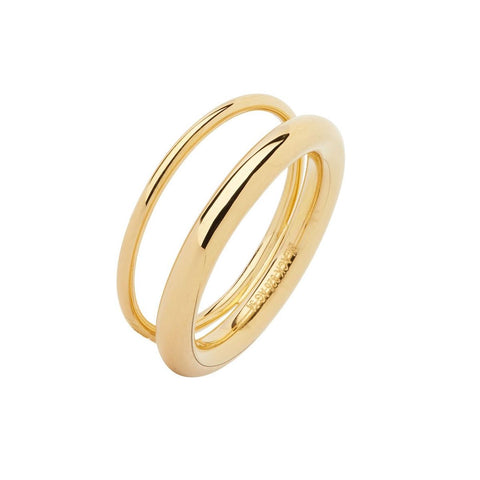 Offset V Ring gold
