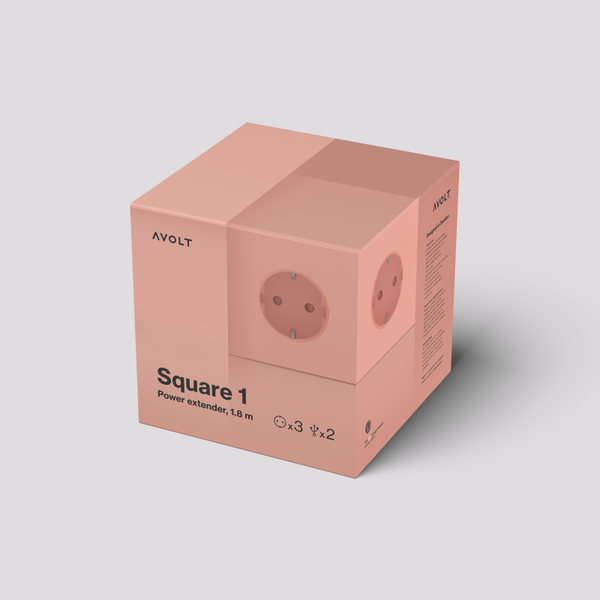 Square 1 Power Extender USB old pink