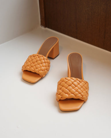 Odessa Sandals bleached orange leather