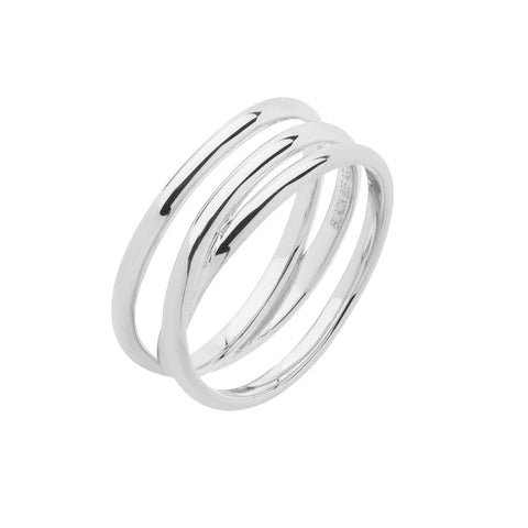 Emilie Wrap Ring silver