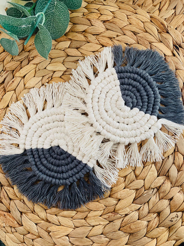 Pair of Macrame Coasters