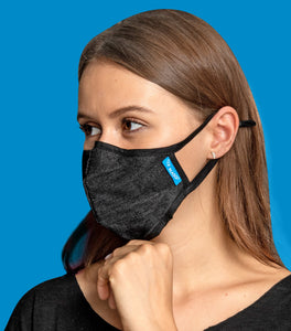 Black Cotton Mask + KN95 Filter BOOSTER