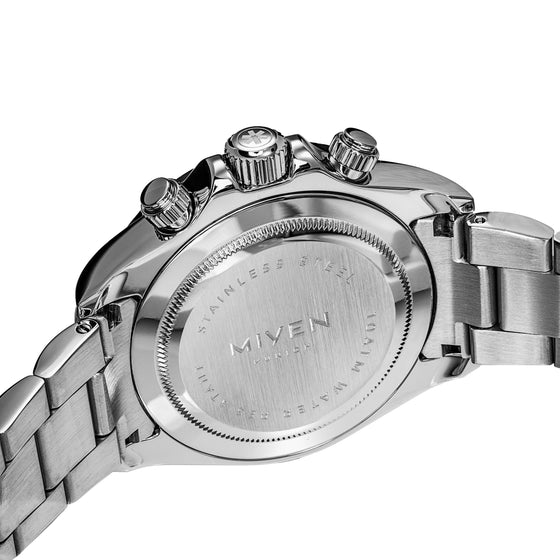 LEMANS - Silver with steel strap