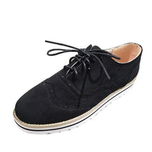 Load image into Gallery viewer, Women's flat suede casual shoes round toe