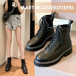 WOMEN'S Genuine Leather straps Martin Boots