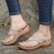 Load image into Gallery viewer, 【2020 SUMMER】 Women's Fashion Embroidered Wedge Comfortable Sandals