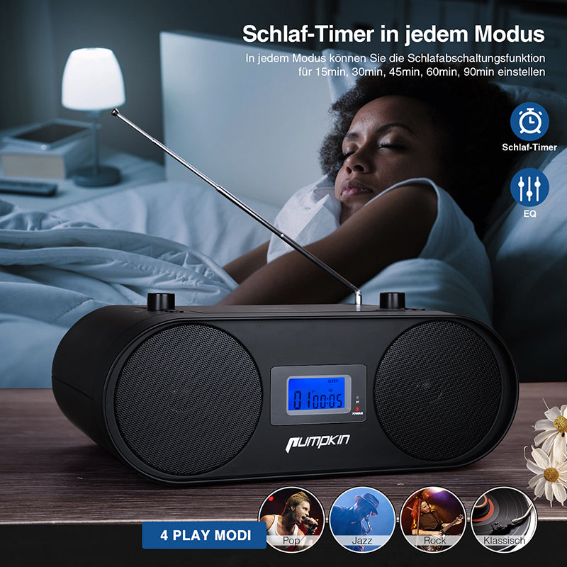 cd boombox mit bluetooth