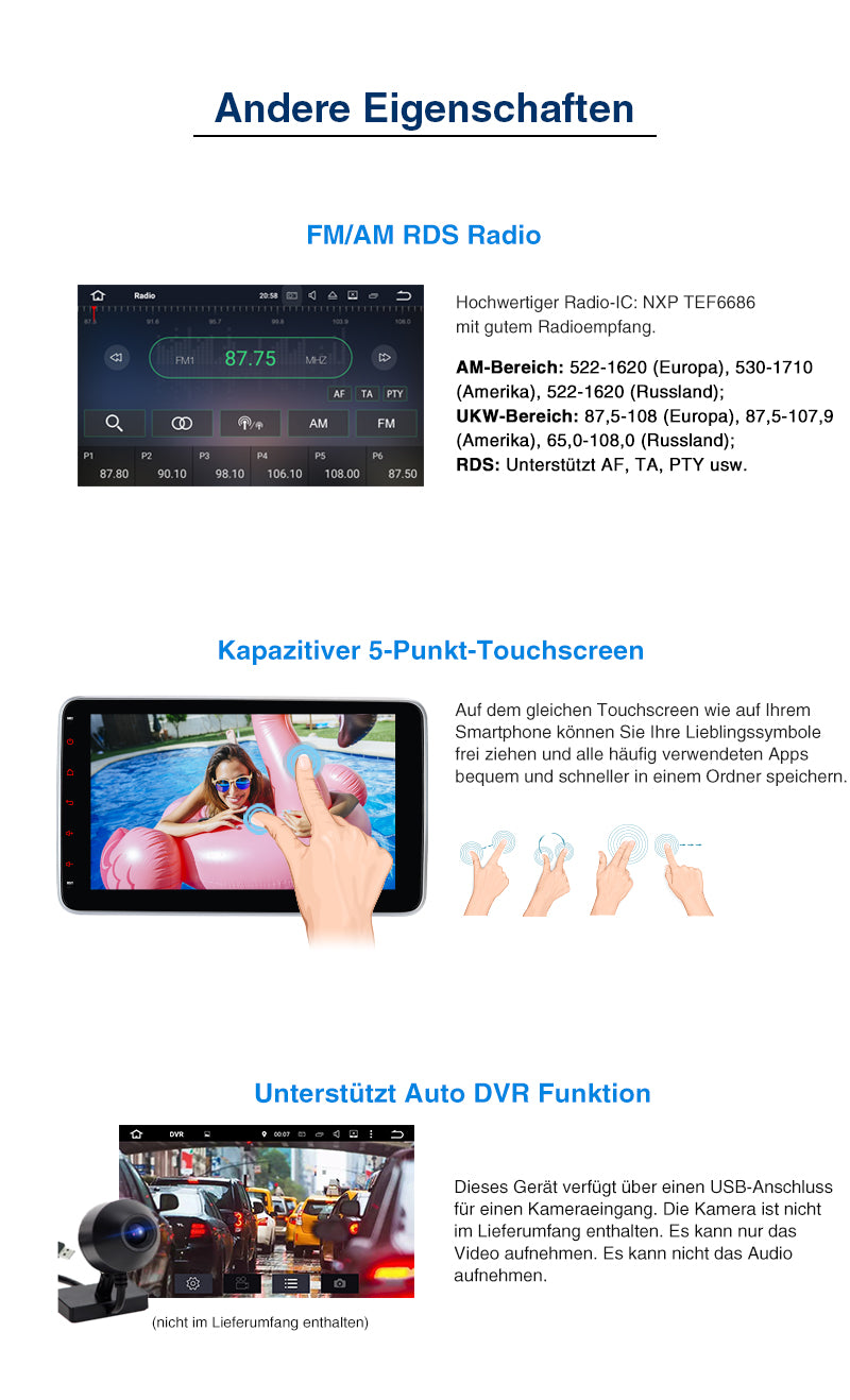 autoradio 1 din apple carplay