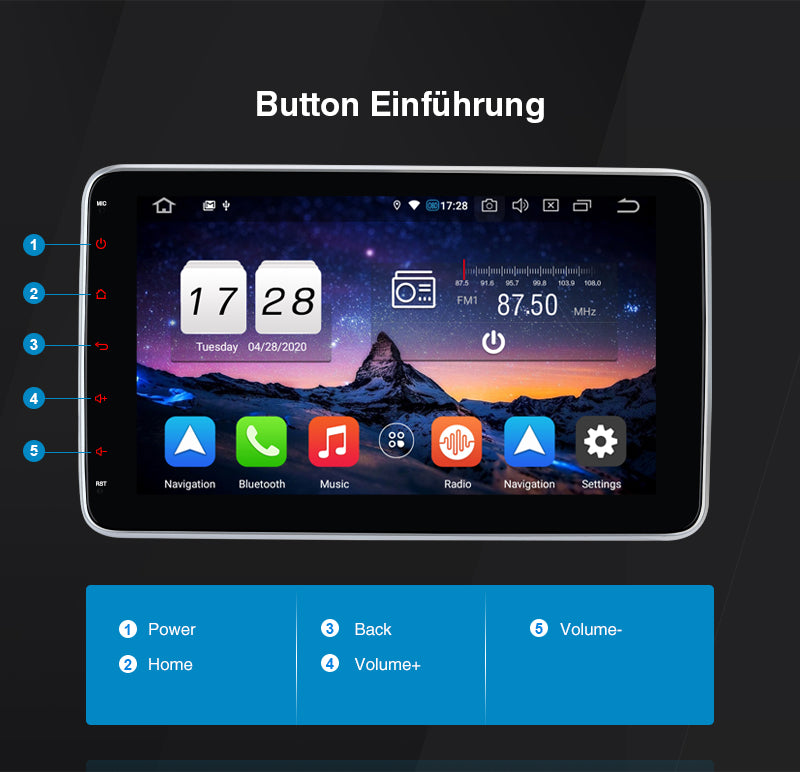 autoradio bluetooth 1 din