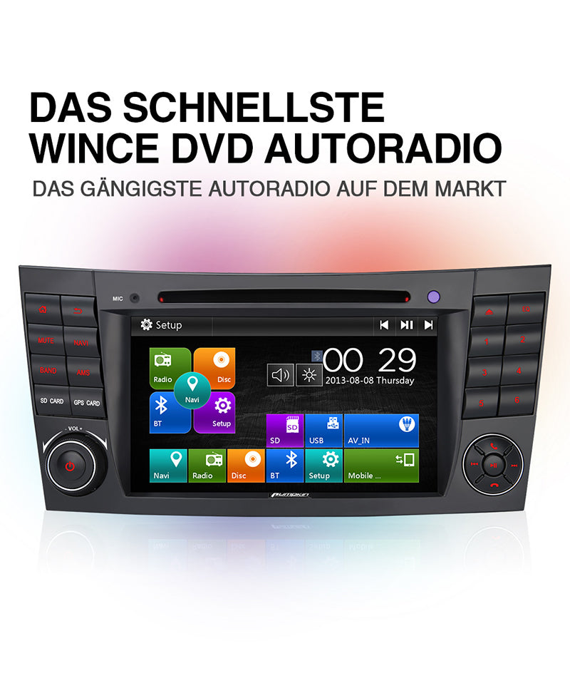 mercedes benz w211 autoradio