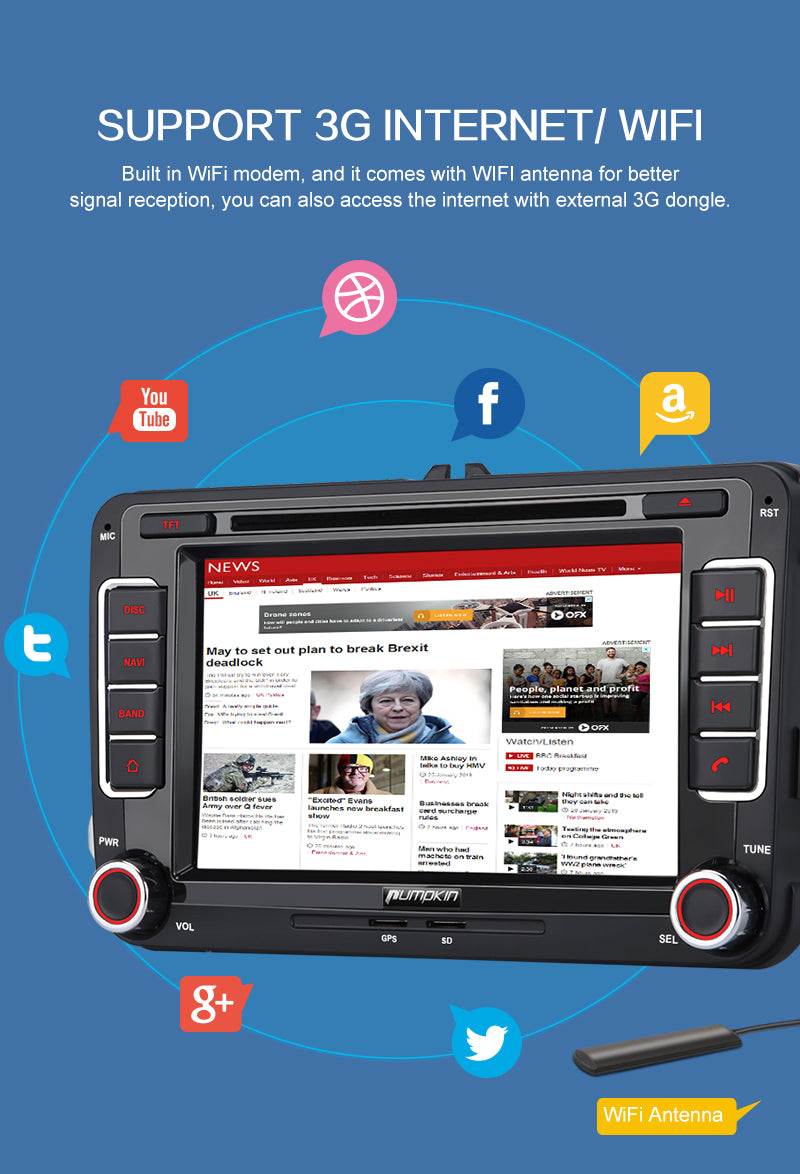 7 zoll android autoradio vw