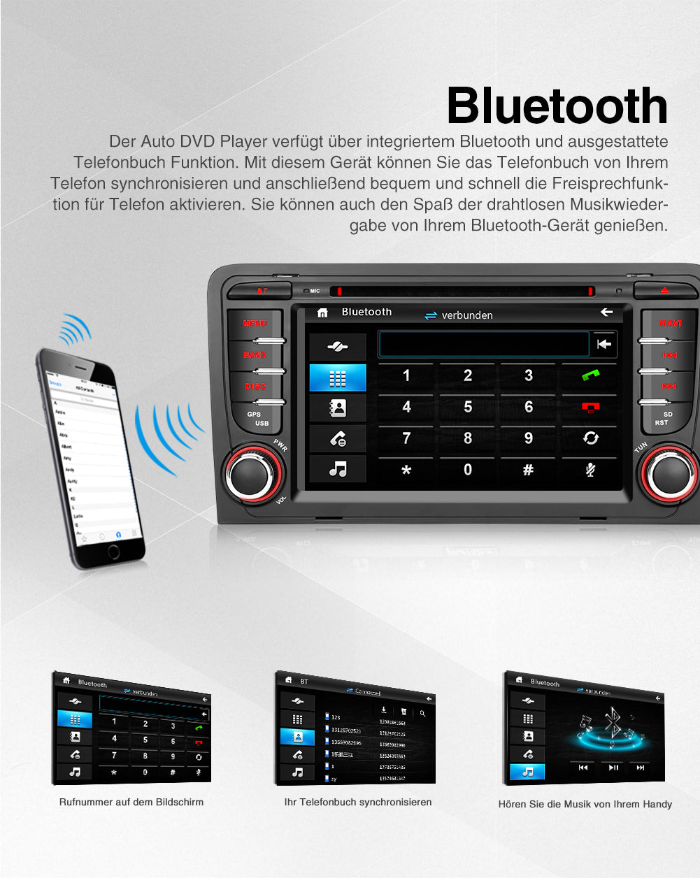 autoradio audi mit bluetooth