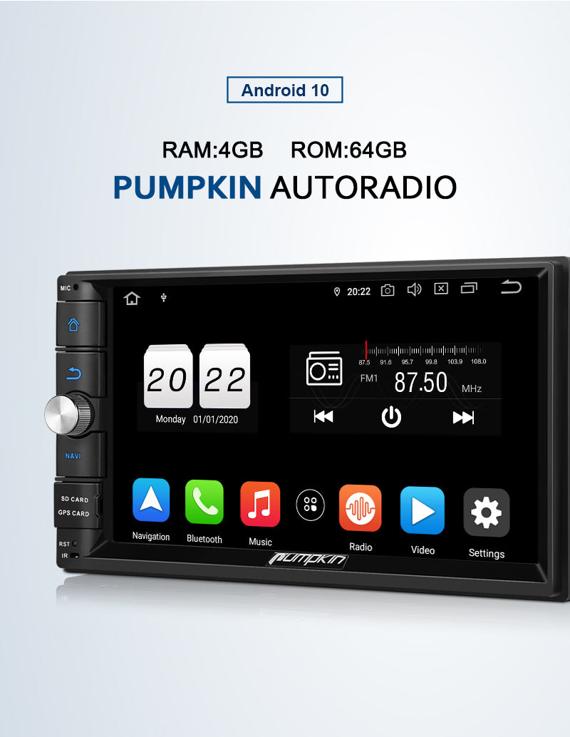Pumpkin Android 10 Autoradio