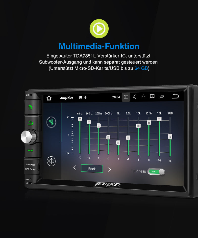 Android 10 autoradio display