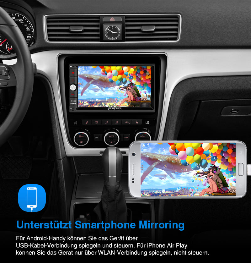 Android 10 autoradio mit display