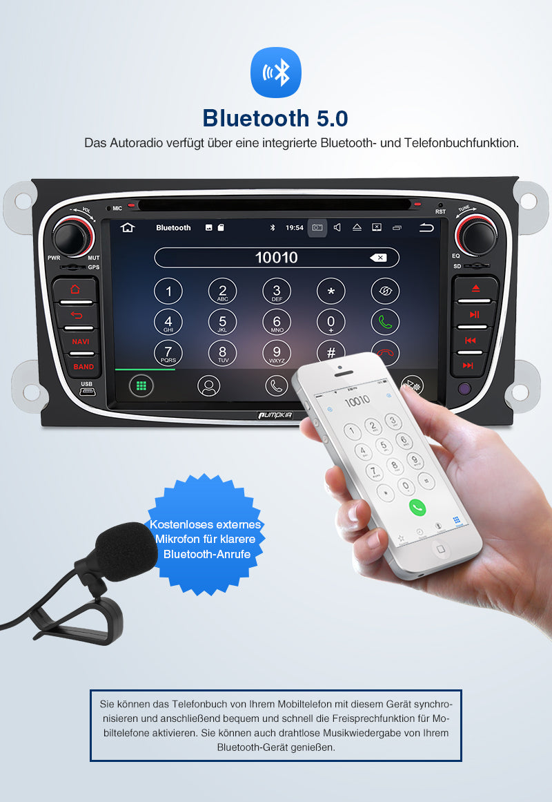 Android 10 Autoradio ford radio navigation system