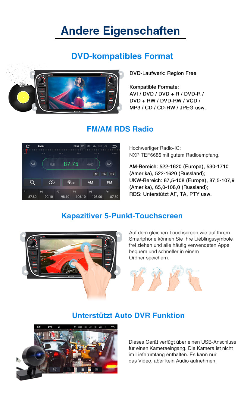 Android 10 ford autoradio bluetooth