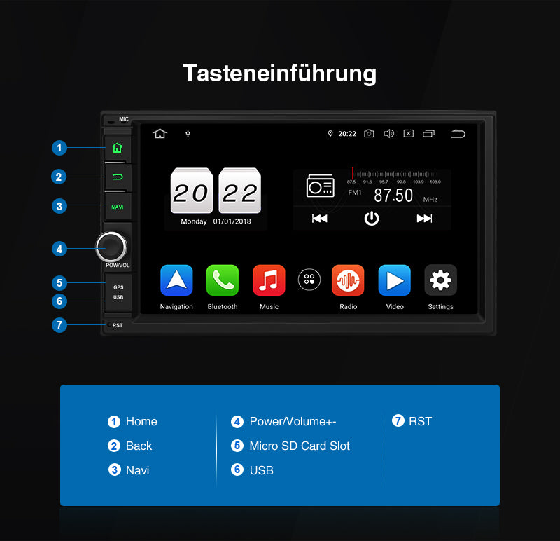 android 10 car stereo radio