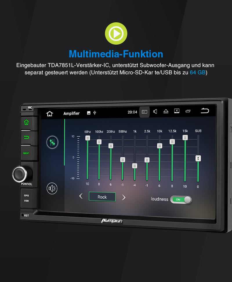 autoradio bluetooth touchscreen