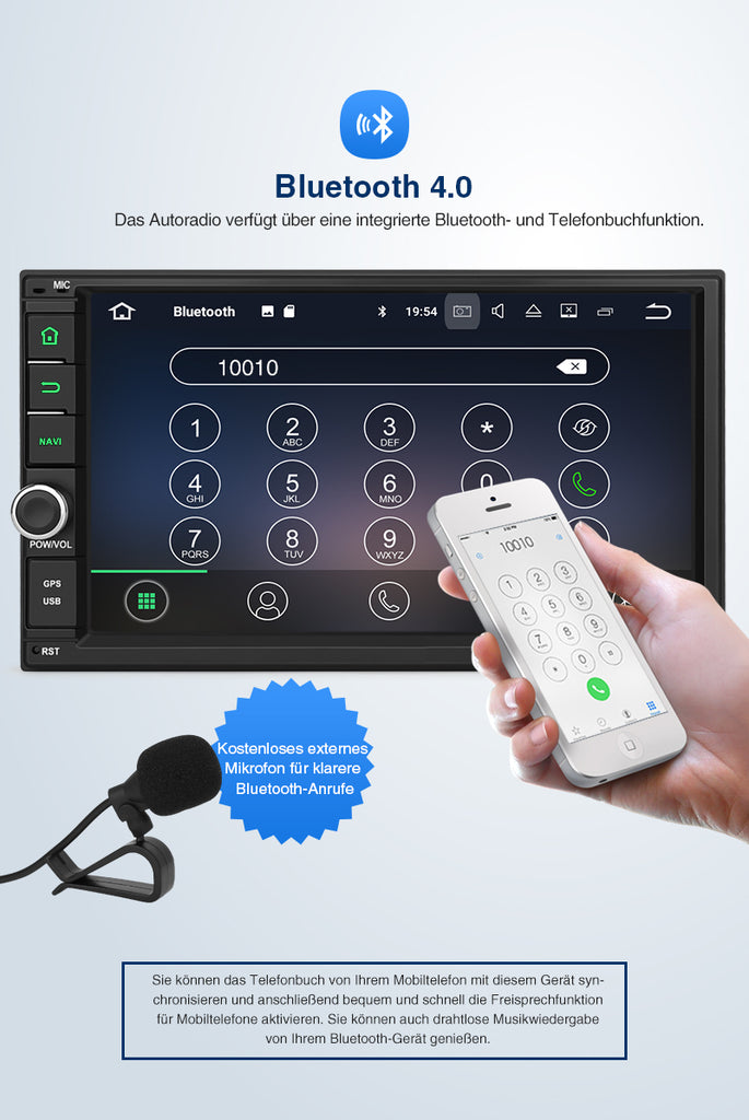 android autoradio mit bluetooth