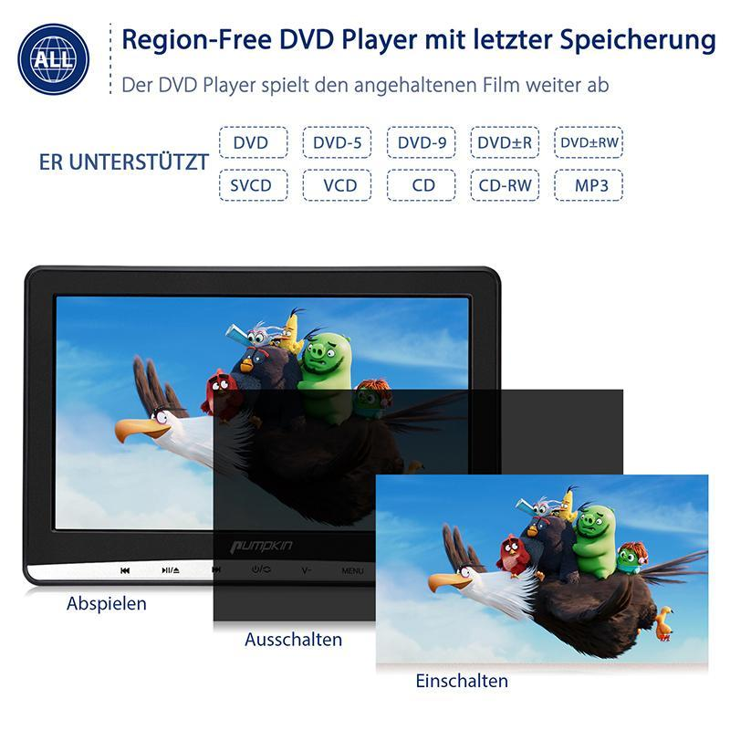 auto dvd player 2 monitore