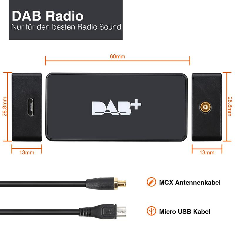 Pumpkin External DAB+ Digital Radio Tuner für Android Autoradio