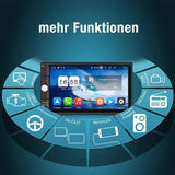 Pumpkin Universal Android Auto Video Player Doppel Din 7 Zoll Touchscreen Octa-Core Autoradio mit GPS Navi Bluetooth RAM: 4GB + ROM: 32GB