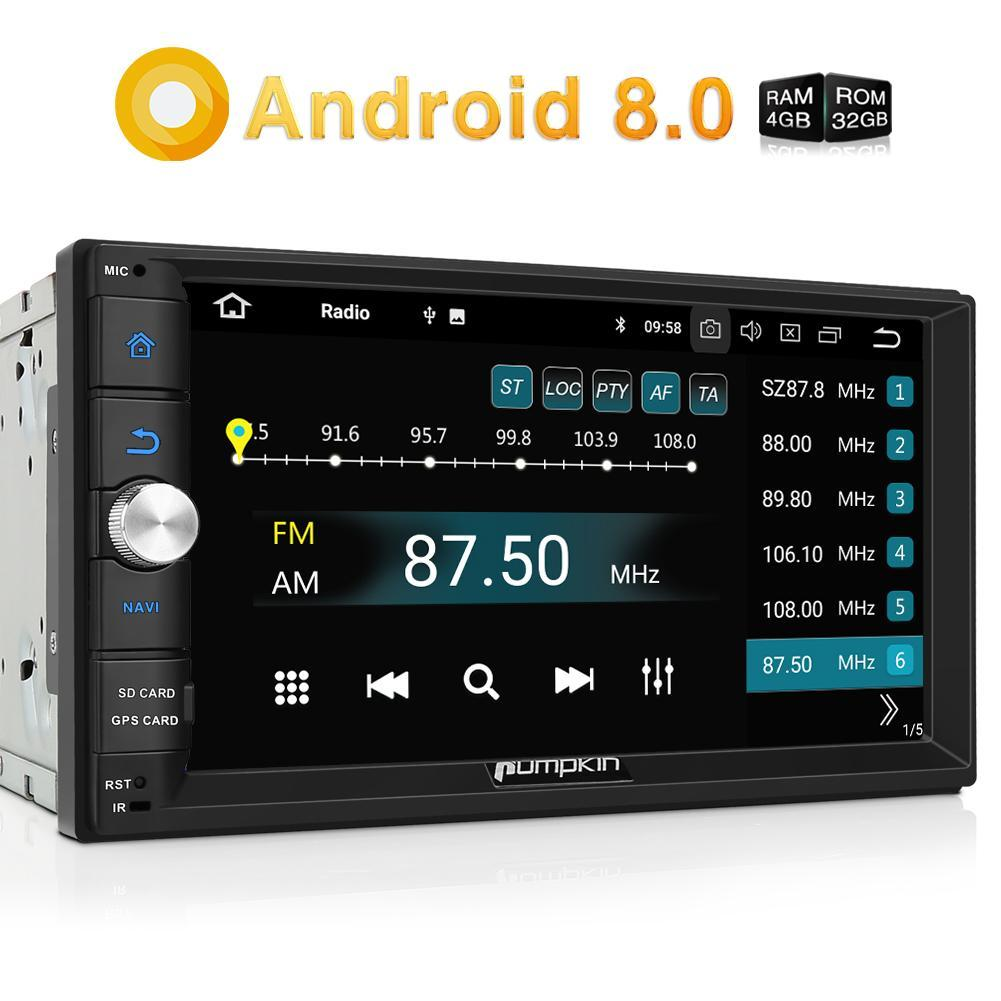 Bluetooth Car Stereo Android 8.0 Universal Car Radio Double Din Radio