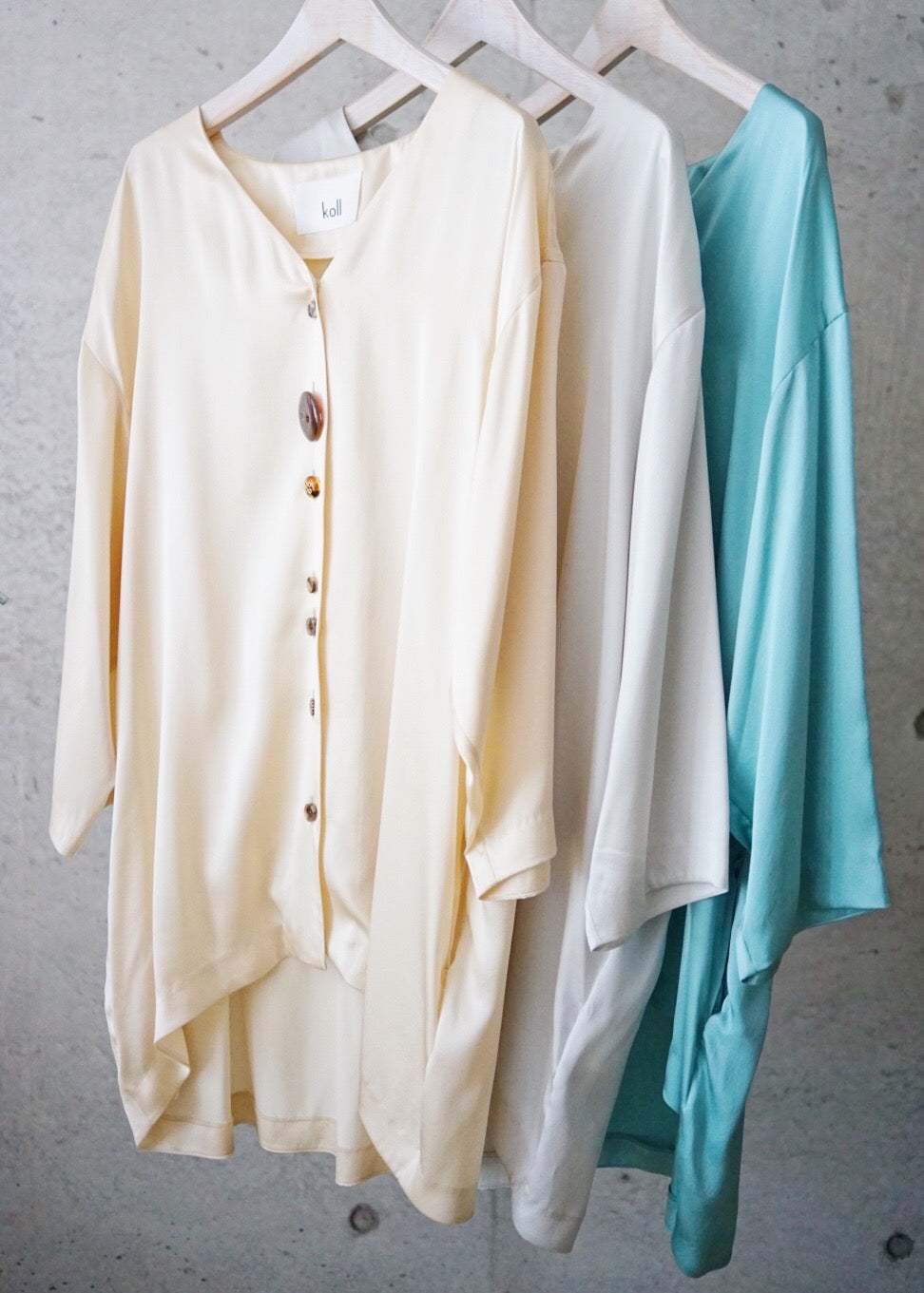 silk long blouse