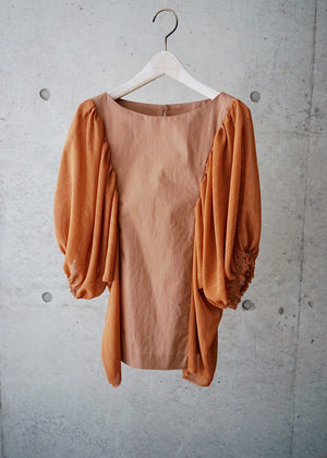 Gathered sleeves top