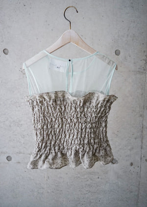 Shirring bustier top