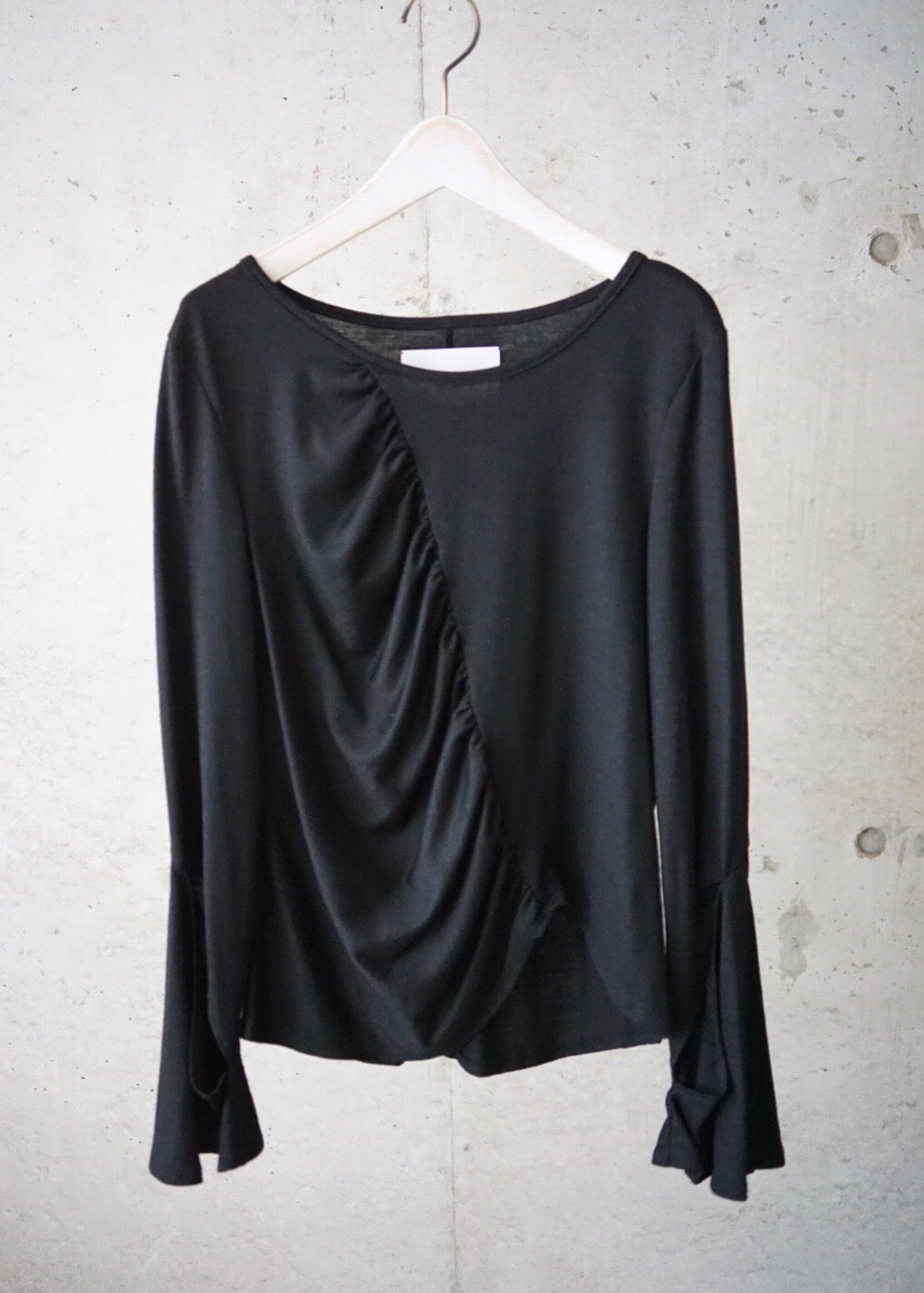 slit sleeve wool top