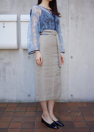long belted skirt