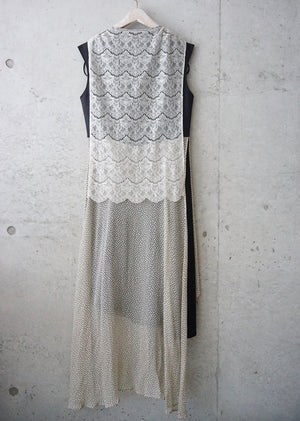 silk crepe layered dress