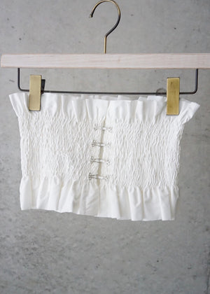 shirring bustier belt