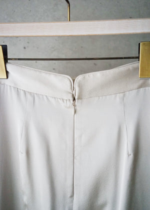 Silk satin draped pants