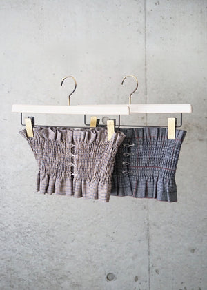 hound's tooth bustier belt