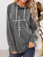 Load image into Gallery viewer, Women's Faith Print Hooded Top