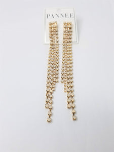 3.75 Earrings Gold Post with Sequin