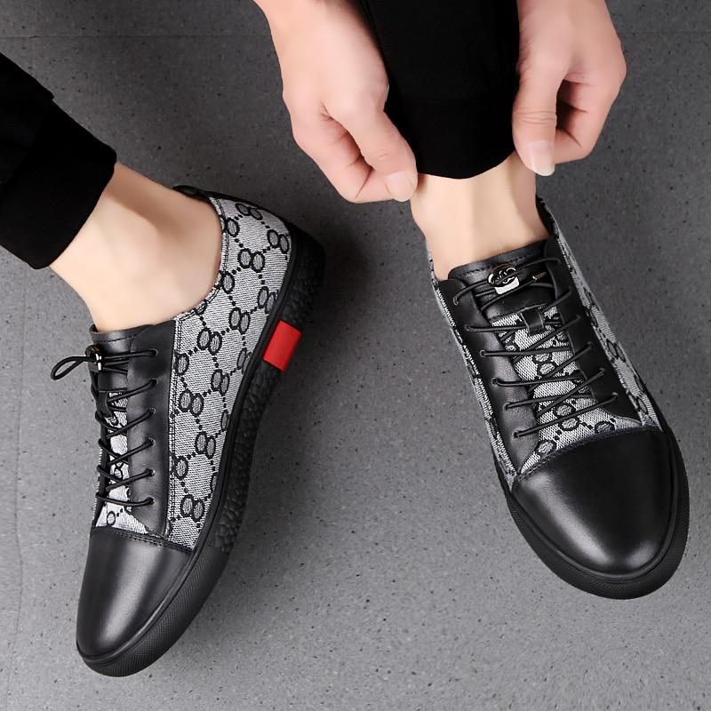 2019 New Fashion Style Genuine Leather And Mesh Summer Casual Shoes Men Handmade Vintage Loafers Flats Hot Sale Sneakers C4