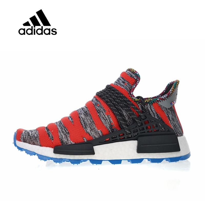 Adidas Authentic Men's Women's Running Shoes Pharrell Williams x Afro HU Solar Pack Sport Outdoor Sneakers 2018 New Arrival